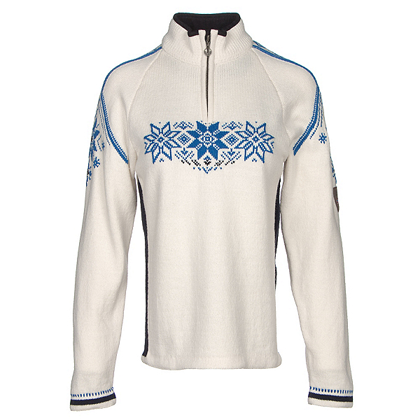 Dale Of Norway Holmenkollen Feminine Womens Sweater, Off White-Navy-Cobalt, 600