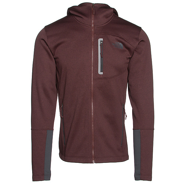 The North Face Canyonlands Full Zip Hoodie (Previous Season), Sequoia Red Heather-Asphalt Gr, 600