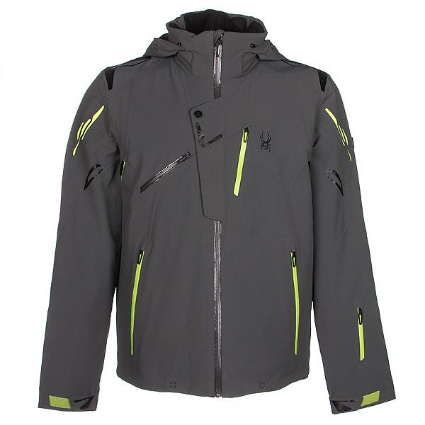 Spyder Monterosa Mens Insulated Ski Jacket, Polar-Theory Green-Bryte Yello, 600