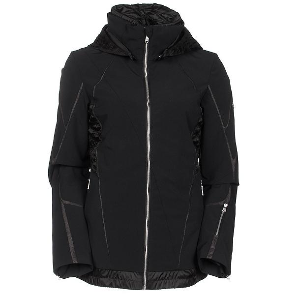 Spyder Prycise Womens Insulated Ski Jacket, Black-Black Denim, 600