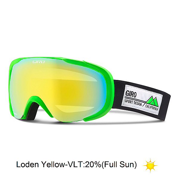 Giro Compass Goggles, Bright Green Frame Pop-Loden Y, 600