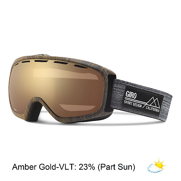 Giro Basis Goggles, Woodgrain-Amber Gold, 600