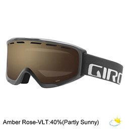 Giro Index OTG Goggles, Titanium Wordmark-Amber Rose, 256