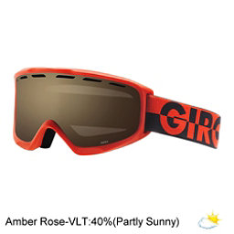 Giro Index OTG Goggles, Red-Black 50-50-Amber Rose, 256