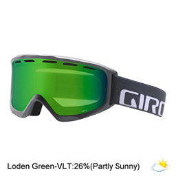 Giro Index OTG Goggles, Titanium Wordmark-Loden Green, 256