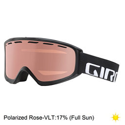 Giro Index Polarized OTG Goggles, Black Wordmark-Polarized Rose, 256