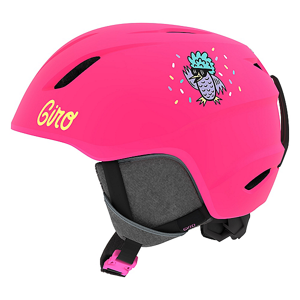 Giro Launch Kids Helmet, Matte Bright Pink-Disco Birds, 600