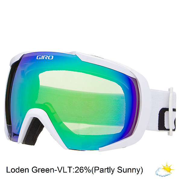 Giro Onset Goggles, White Wordmark-Loden Green, 600
