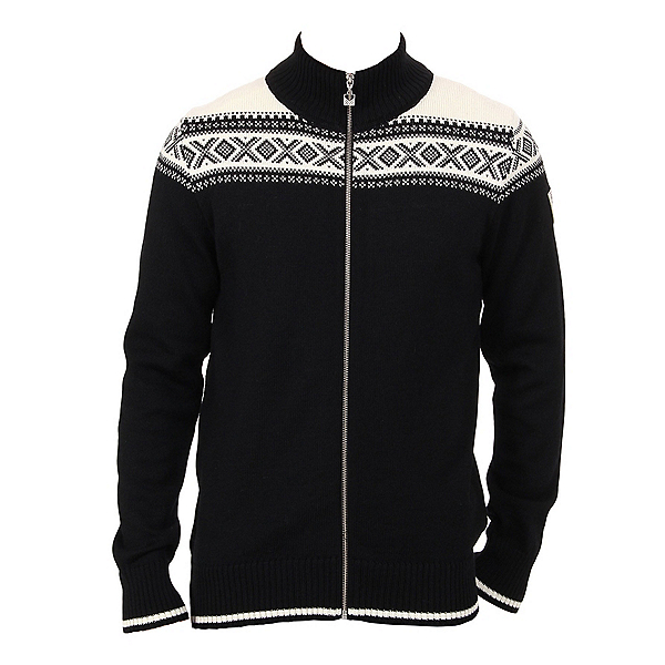 Dale Of Norway Hemsedal Masculine Mens Sweater, Black-Off White, 600