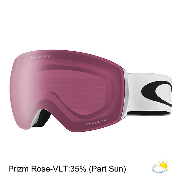 Oakley Flight Deck XM Prizm Goggles, Matte White-Prizm Rose, 600