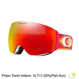 Oakley Flight Deck XM Prizm Goggles 2018, Digi Snake Red-Prizm Torch Iridium, 256