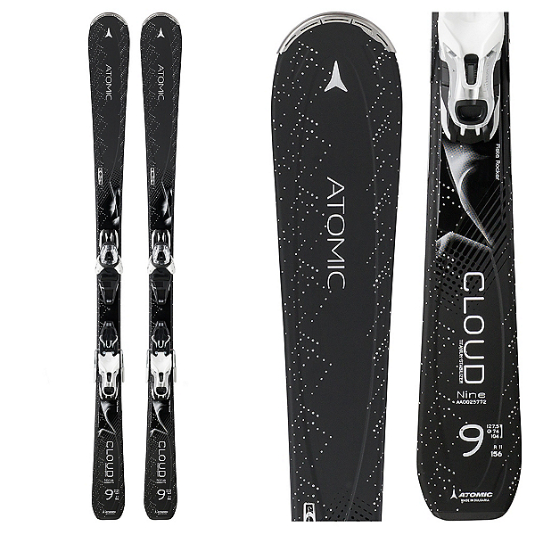 Atomic Cloud Nine Womens Skis with Lithium 10 Bindings, , 600