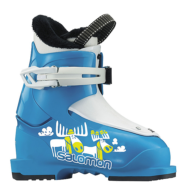 Salomon T1 Kids Ski Boots 2018, Blue-White, 600
