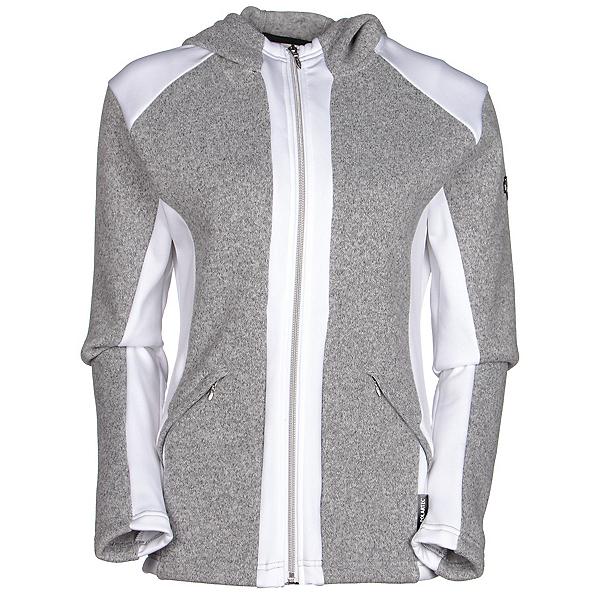 Descente Lauren Womens Mid Layer, Light Grey-Super White, 600