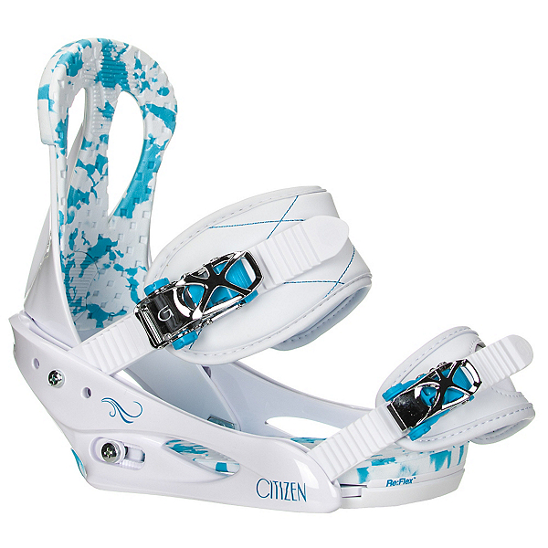 Burton Citizen Womens Snowboard Bindings, White-Blue, 600
