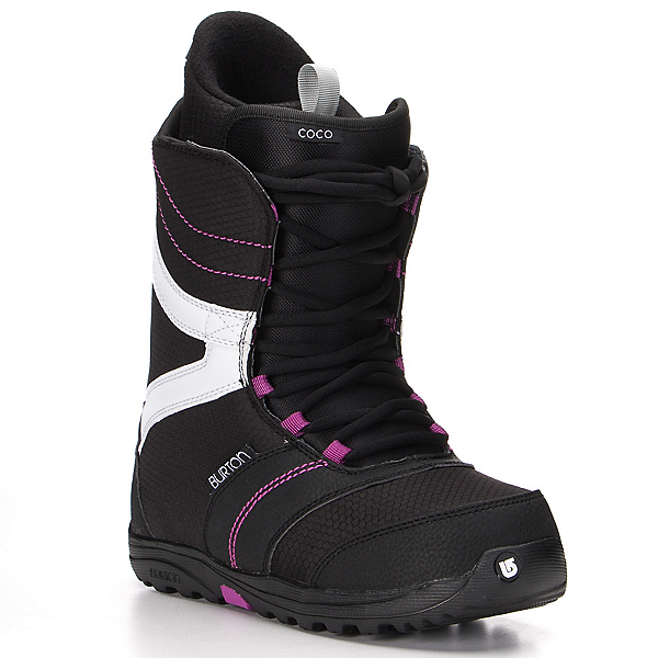 Burton Coco Womens Snowboard Boots, Black-Purple, 600