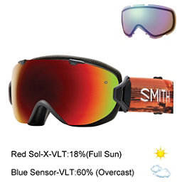 Smith I/OS Womens Goggles, Elena Id-Red Sol X Mirror + Bonus Lens, 256