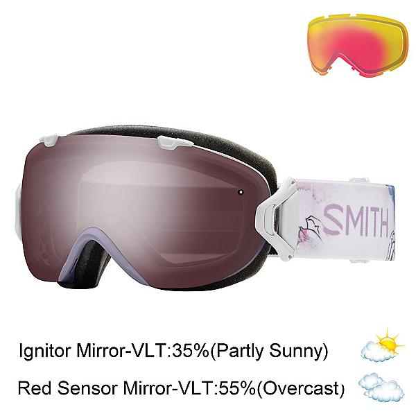Smith I/OS Womens Goggles, Lunar Bloom-Ignitor Mirror + Bonus Lens, 600