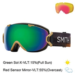 Smith I/OS Womens Goggles, Prairie Buffalo-Green Sol X Mi + Bonus Lens, 256