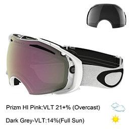 Oakley Airbrake Prizm Goggles, Polished White-Prizm Hi Pink + Bonus Lens, 256