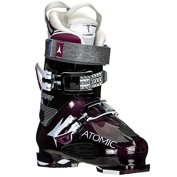 Atomic Live Fit 90 W Womens Ski Boots, Transparent Purple-Black, 600