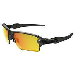 Oakley Flak 2.0 XL Polarized Sunglasses, Matter Gray Smoke-Fire Iridium Polarized, 256