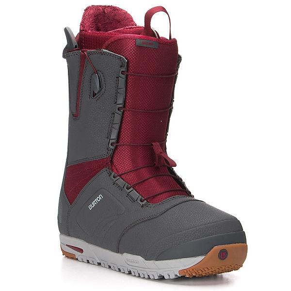 Burton Ruler Snowboard Boots, Gray-Burgundy, 600