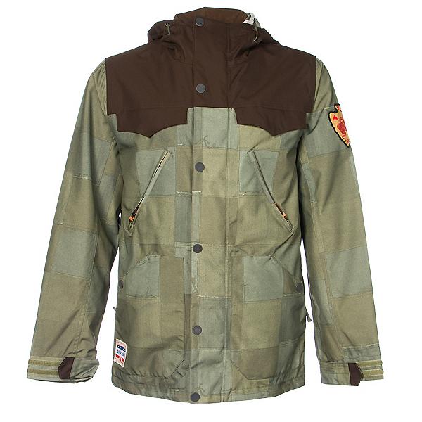 Burton Folsom Mens Shell Snowboard Jacket, , 600