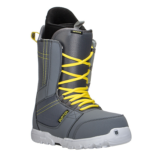 Burton Invader Snowboard Boots, Gray-Yellow, 600