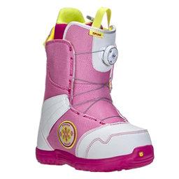 Burton Zipline Boa Girls Snowboard Boots, White-Pink, 256