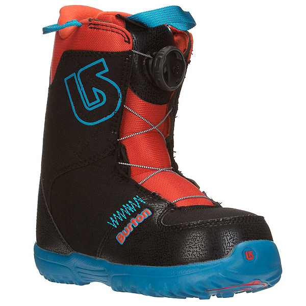 Burton Grom Boa Kids Snowboard Boots, Webslinger Blue, 600