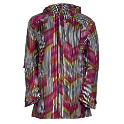 Burton Radar Womens Insulated Snowboard Jacket, Rainbow Chevron, 256