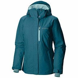 Columbia Alpine Action Plus Womens Insulated Ski Jacket, Aegean Blue Crossdye-Aqua Haze, 256