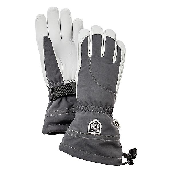 Hestra Heli Womens Gloves, Grey-Off White, 600