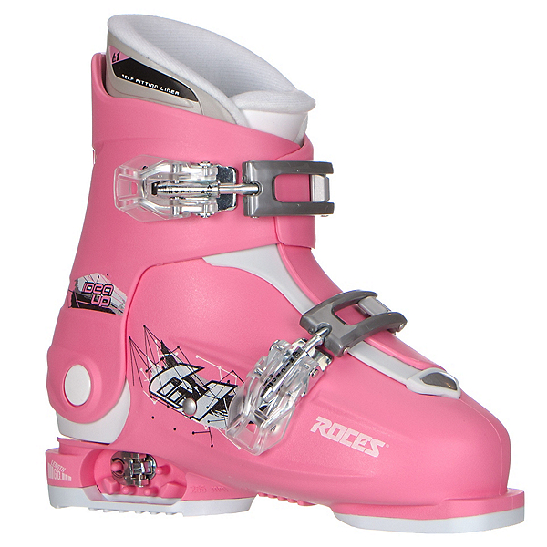 Roces Idea Up G Girls Ski Boots, Deep Pink (2 Buckle), 600