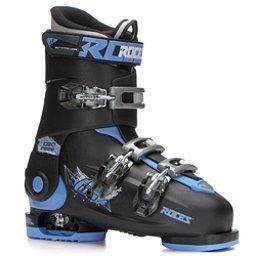 Roces Idea Free Kids Ski Boots, Black-Blue, 256