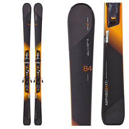 Elan Amphibio 84 XTi Skis with ELX 12.0 Fusion Bindings, Black-Orange, 256