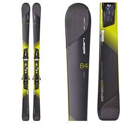 Elan Amphibio 84 Ti Skis with ELX 11.0 Fusion Bindings, Black-Yellow, 256