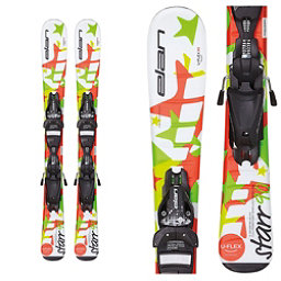 Elan Starr Kids Skis with EL 4.5 QT Bindings, White, 256