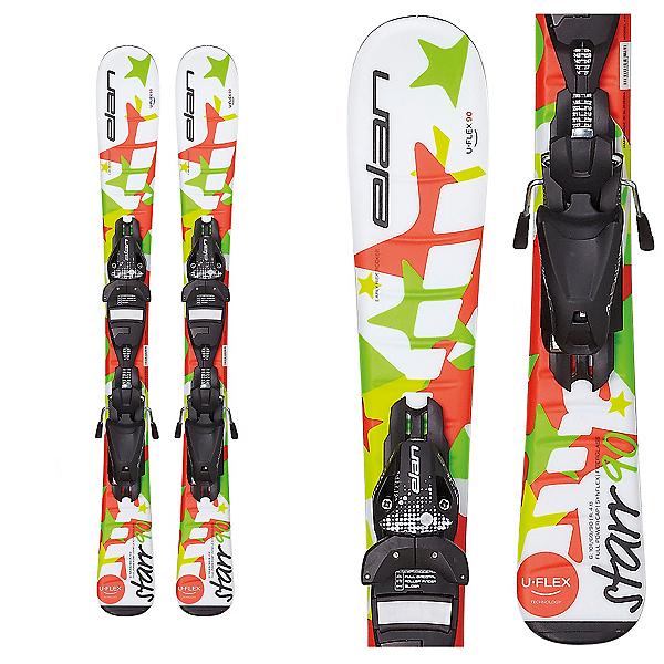 Elan Starr Kids Skis with EL 4.5 QT Bindings, White, 600