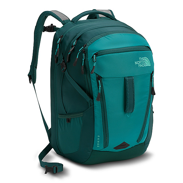The North Face Surge Womens Backpack, Harbor Blue-Atlantic Deep Blue, 600