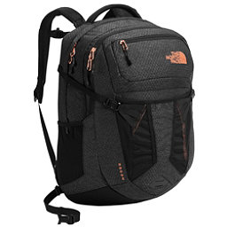 The North Face Recon Womens Backpack, TNF Black Heather-Burnt Coral, 256