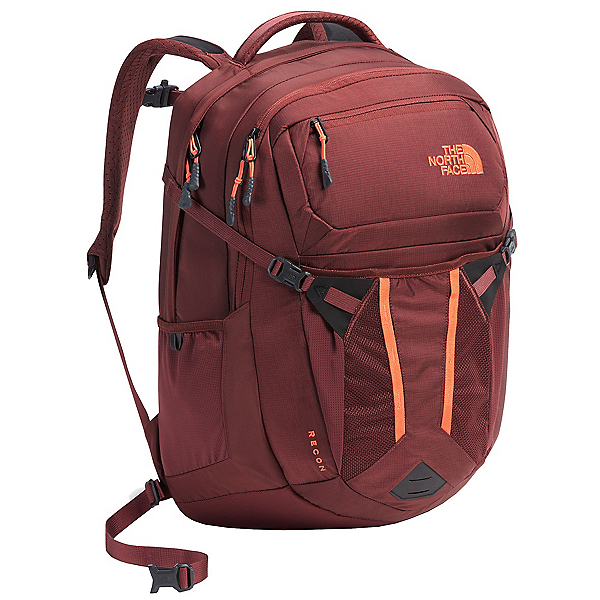 The North Face Recon Womens Backpack, Barolo Red-Nasturtium Orange, 600