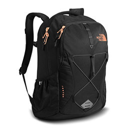 The North Face Jester Womens Backpack, TNF Black Heather-Burnt Coral, 256