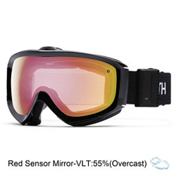 Smith Prophecy Turbo Fan OTG Goggles, Black-Red Sensor Mirror, 256