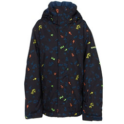 Quiksilver Mission Print Boys Snowboard Jacket, Ghetto Island, 256