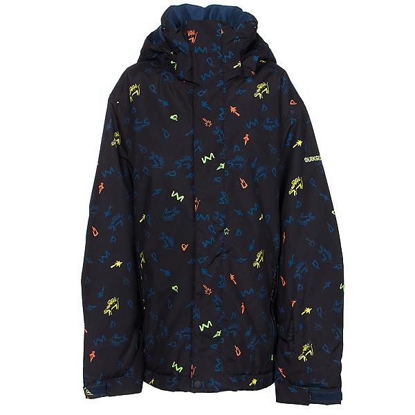 Quiksilver Mission Print Boys Snowboard Jacket, , 600