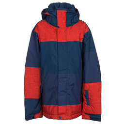 Quiksilver Mission Print Boys Snowboard Jacket, Big Stripe Poinciana, 256