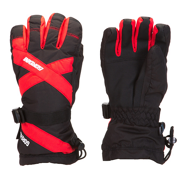 Gordini Junior Gore-Tex III Kids Gloves, Black-Fire Engine Red, 600