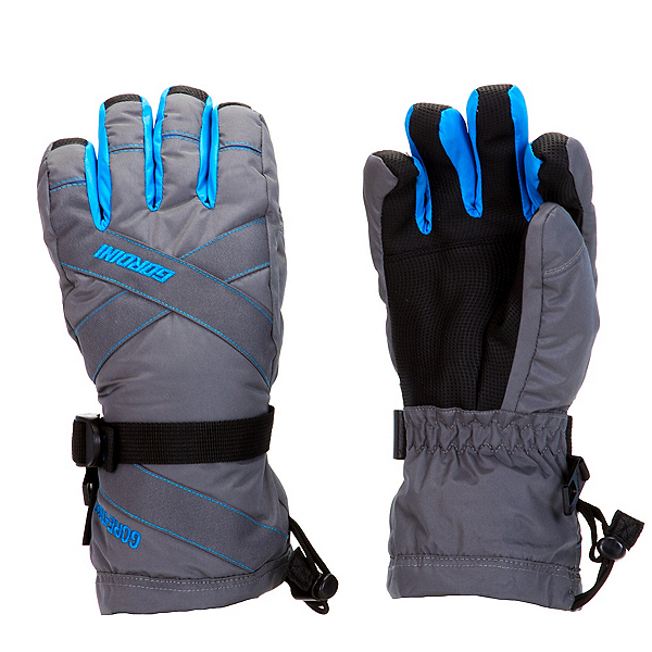 Gordini Junior Gore-Tex III Kids Gloves, Gunmetal-Bright Blue, 600